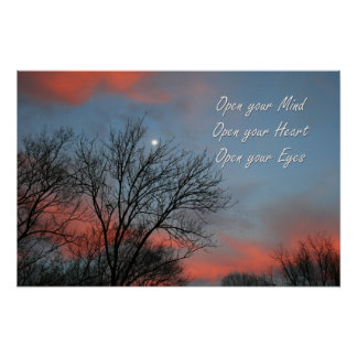Open your Mind, Heart & Eyes / Inspiration Poster