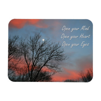 Open your Mind, Heart & Eyes / Inspiration Rectangular Photo Magnet