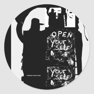 Open Yourself Classic Round Sticker