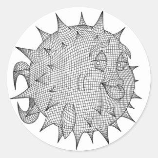OpenBSD Classic Round Sticker
