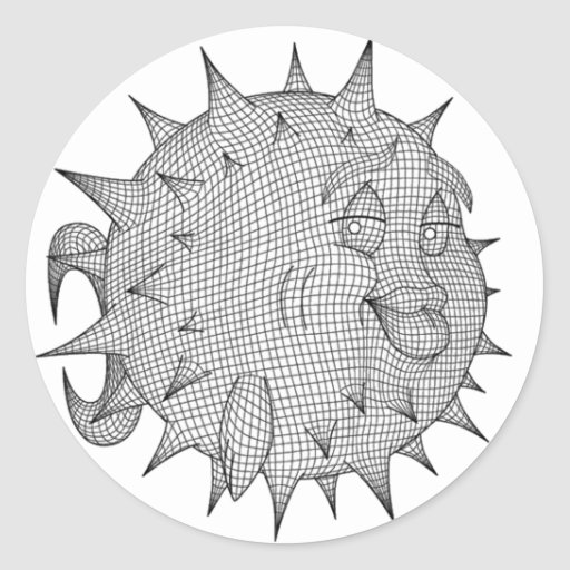 OpenBSD Pegatina Redonda
