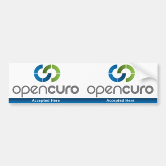 """OpenCuro Window Decal 3"""" x 5.5"""" Accepted Here Bumper Stickers"""