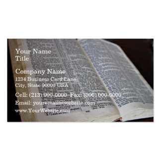 Opened Bible Double-Sided Standard Business Cards (Pack Of 100)