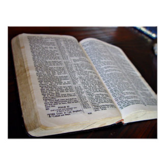 Opened Bible Poster