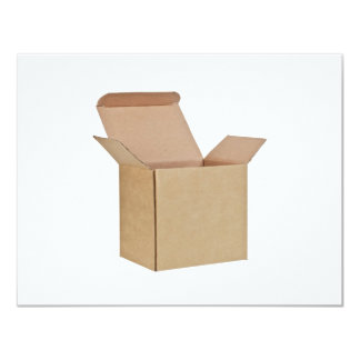 Opened cardboard box 4.25x5.5 paper invitation card