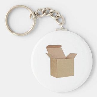Opened cardboard box key chains