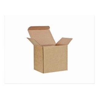 Opened cardboard box postcard