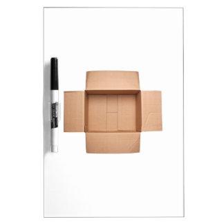 Opened corrugated cardboard box Dry-Erase board