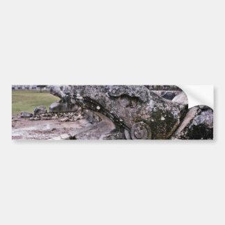 Opened Mouth View Of Serpent On El Castillo Car Bumper Sticker