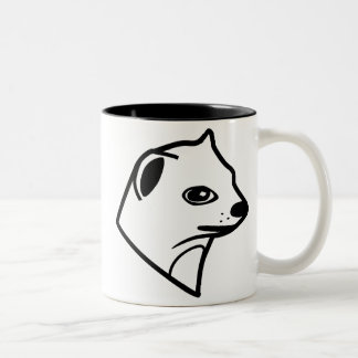 openEuphoria-mongoose-black-mug Two-Tone Coffee Mug