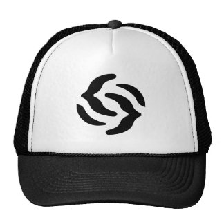 openEuphoria-rose-black-hat Trucker Hat