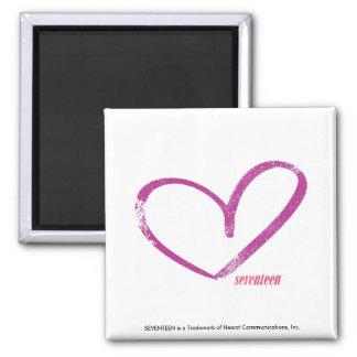 OpenHeart Purple 2 Inch Square Magnet