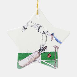 Opening Bat - cricket, tony fernandes Ceramic Ornament