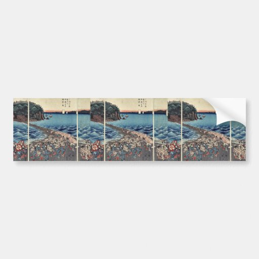 Opening celebration in Soshu by Ando,Hiroshige Bumper Stickers