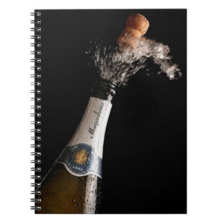 Opening Champagne Spiral Notebook