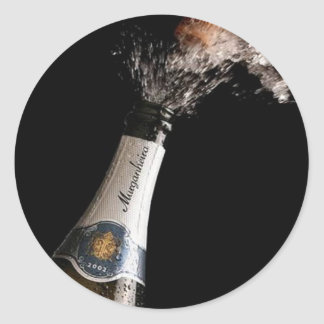 Opening Champagne Sticker