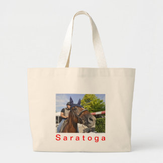 Opening day at Saratoga 150 Canvas Bags