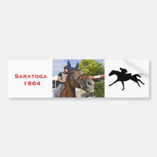 Opening day at Saratoga 150 Bumper Stickers