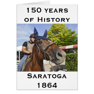 Opening day at Saratoga 150 Card