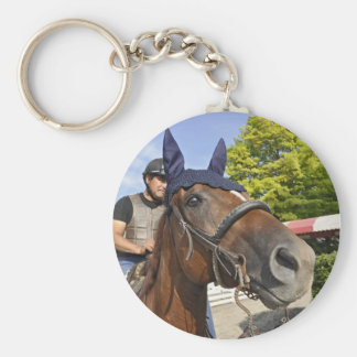Opening day at Saratoga 150 Key Chain