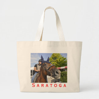 Opening day at Saratoga 150 Large Tote Bag