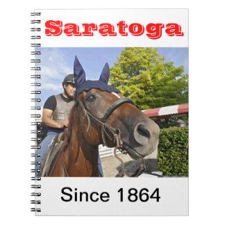 Opening day at Saratoga 150 Notebooks