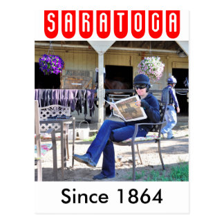 Opening Day at Saratoga Postcard