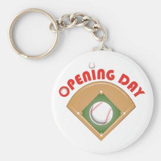 Opening Day Basic Round Button Keychain