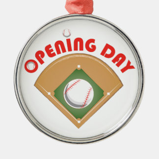 Opening Day Metal Ornament