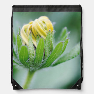 Opening Flower Of Cone Flower Cinch Bag