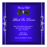 Opening Night Black Tie Formal Royal Blue Invitation