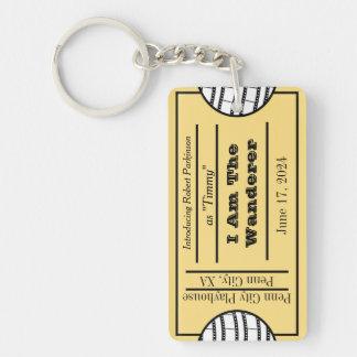 Opening Night Stub Double-Sided Rectangular Acrylic Keychain