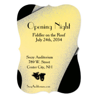 Opening Night Theater Gold Invitation