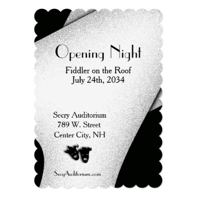 Opening Night Theater Invitation Personalized Announcement