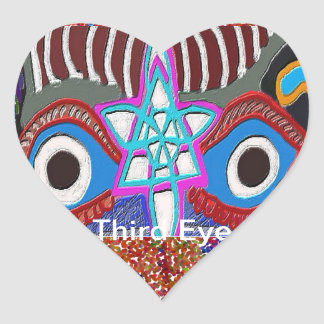 Opening of Solar Plexus - Third Eye Meditation Heart Sticker