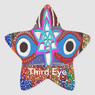 Opening of Solar Plexus - Third Eye Meditation Star Sticker
