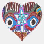 Opening of Solar Plexus - Third Eye Meditation Heart Stickers