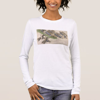 Opening of the Battle of the Little Big Horn (ink Long Sleeve T-Shirt