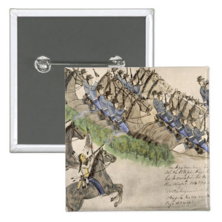 Opening of the Battle of the Little Big Horn (ink Pinback Button