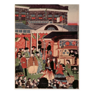 Opening of the First Railway in Japan Postcards