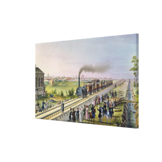 Opening of the First Railway Line Gallery Wrapped Canvas