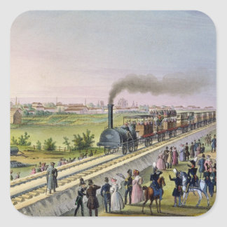 Opening of the First Railway Line Stickers