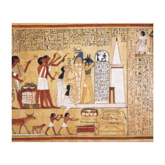 Opening of the Mouth Ceremony Book of the Dead Canvas Print