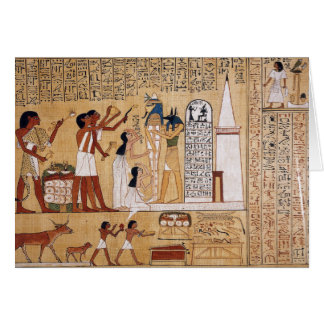 Opening of the Mouth Ceremony Book of the Dead Greeting Card