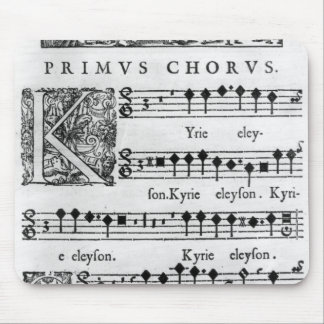 Opening page of the Mass for Double Choir Mouse Pad