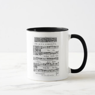 Opening page of the Mass for Double Choir Mug