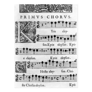 Opening page of the Mass for Double Choir Postcards