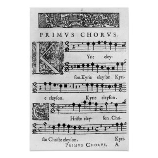 Opening page of the Mass for Double Choir Poster