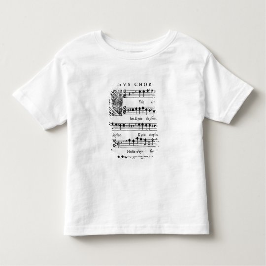 Opening page of the Mass for Double Choir Toddler T-shirt