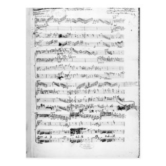 Opening page of the score of 'Les Paladins' Postcard